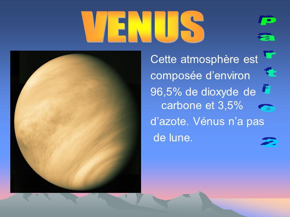VENUS partie 2 Cette atmosphère est composée d'environ