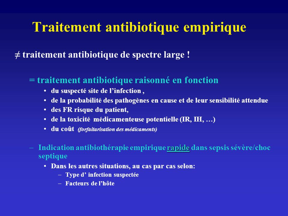 Traitement antibiotique empirique