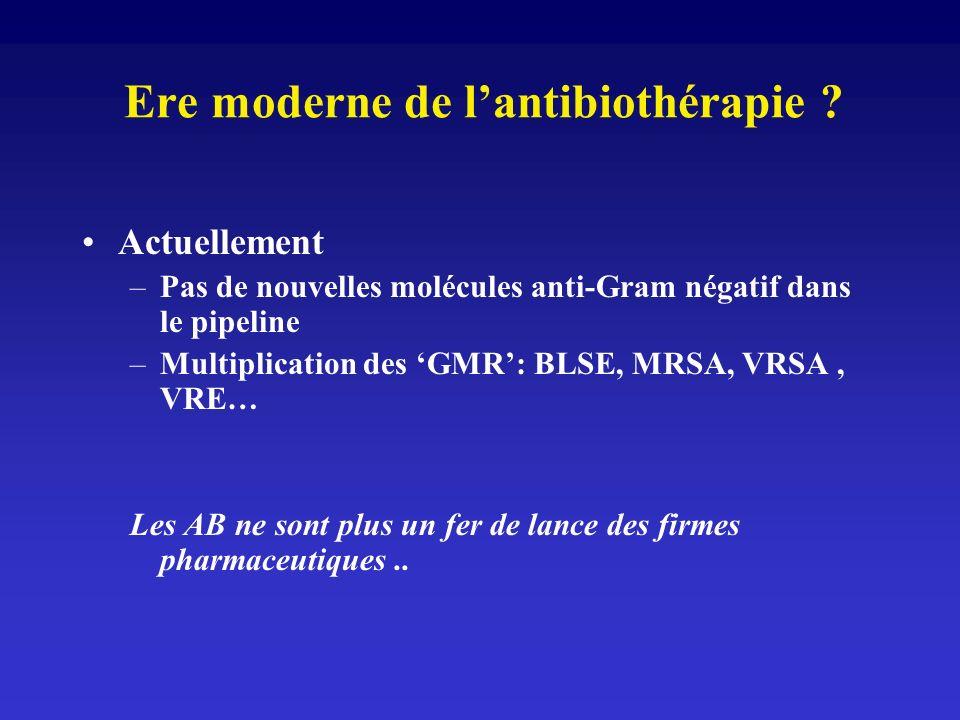 Ere moderne de l'antibiothérapie
