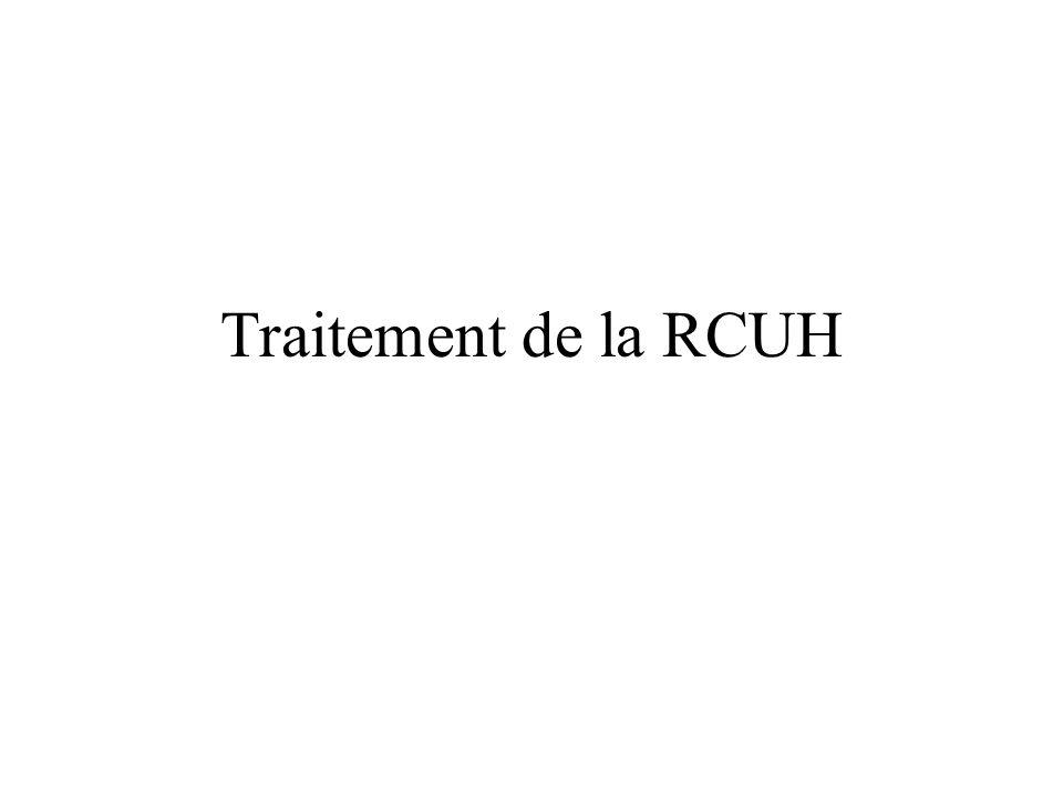 Traitement de la RCUH