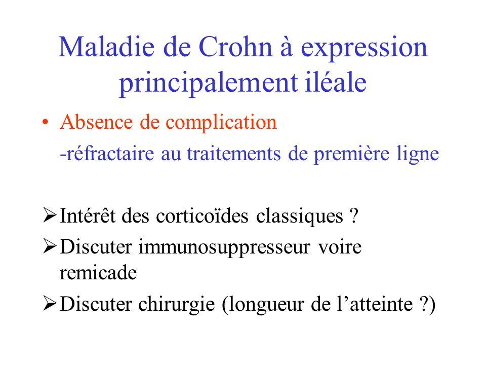 Maladie de Crohn à expression principalement iléale