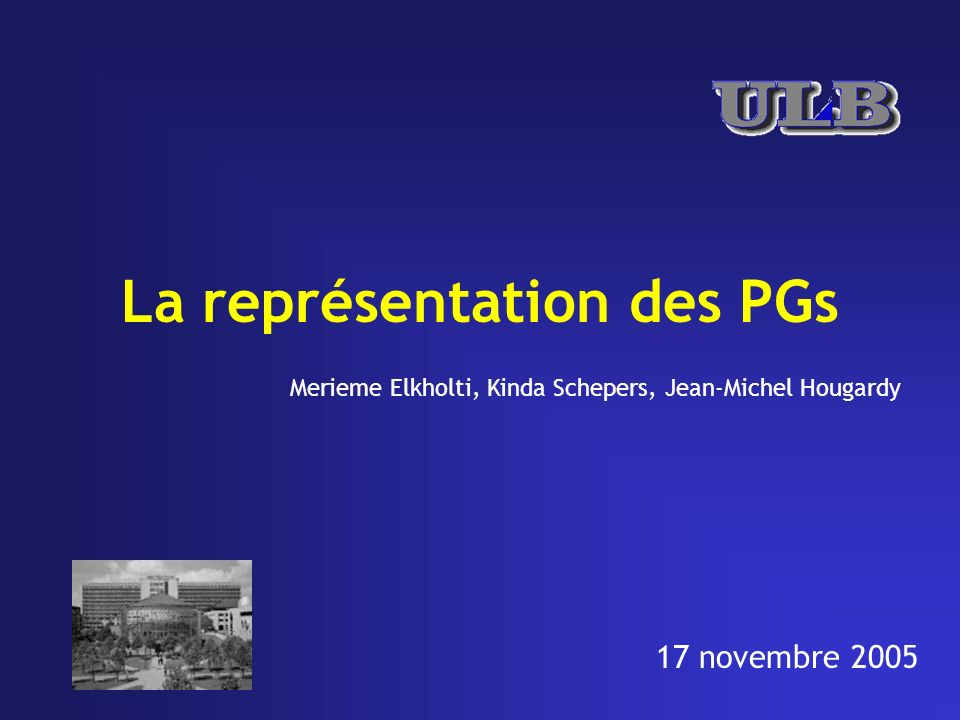 La représentation des PGs