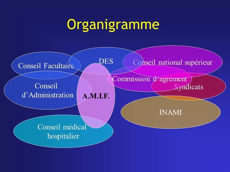 Organigramme DES Conseil national supérieur Conseil Facultaire