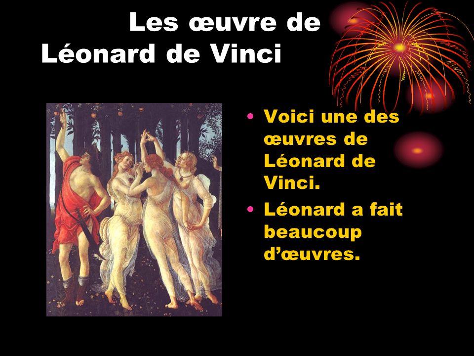 Les œuvre de Léonard de Vinci
