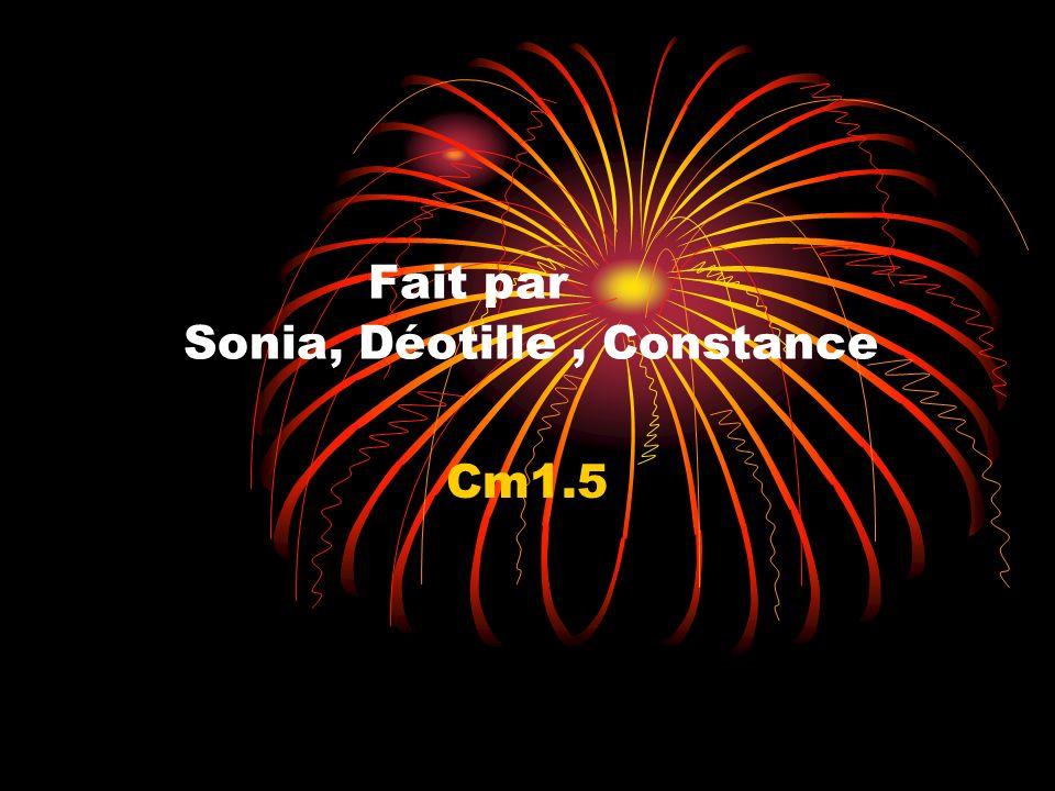 Fait par Sonia, Déotille , Constance