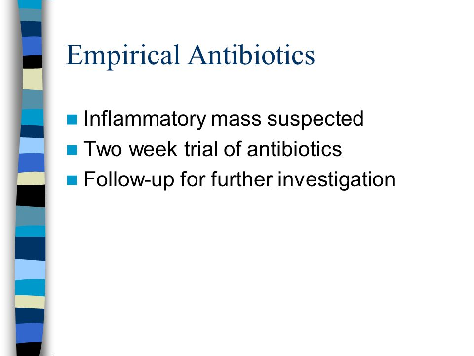 Empirical Antibiotics