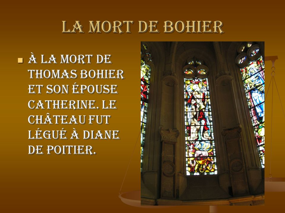 LA MORT DE BOHIERÀ la mort de Thomas Bohier et son épouse Catherine.