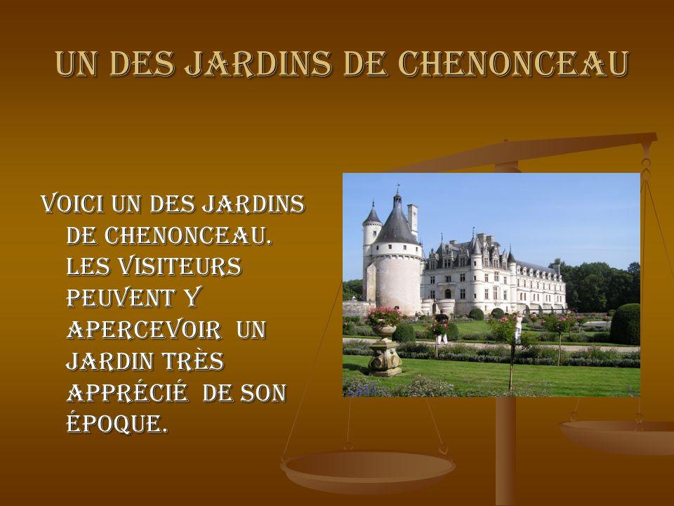 un des jardins de Chenonceau