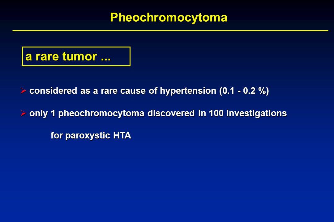 Pheochromocytoma a rare tumor ...
