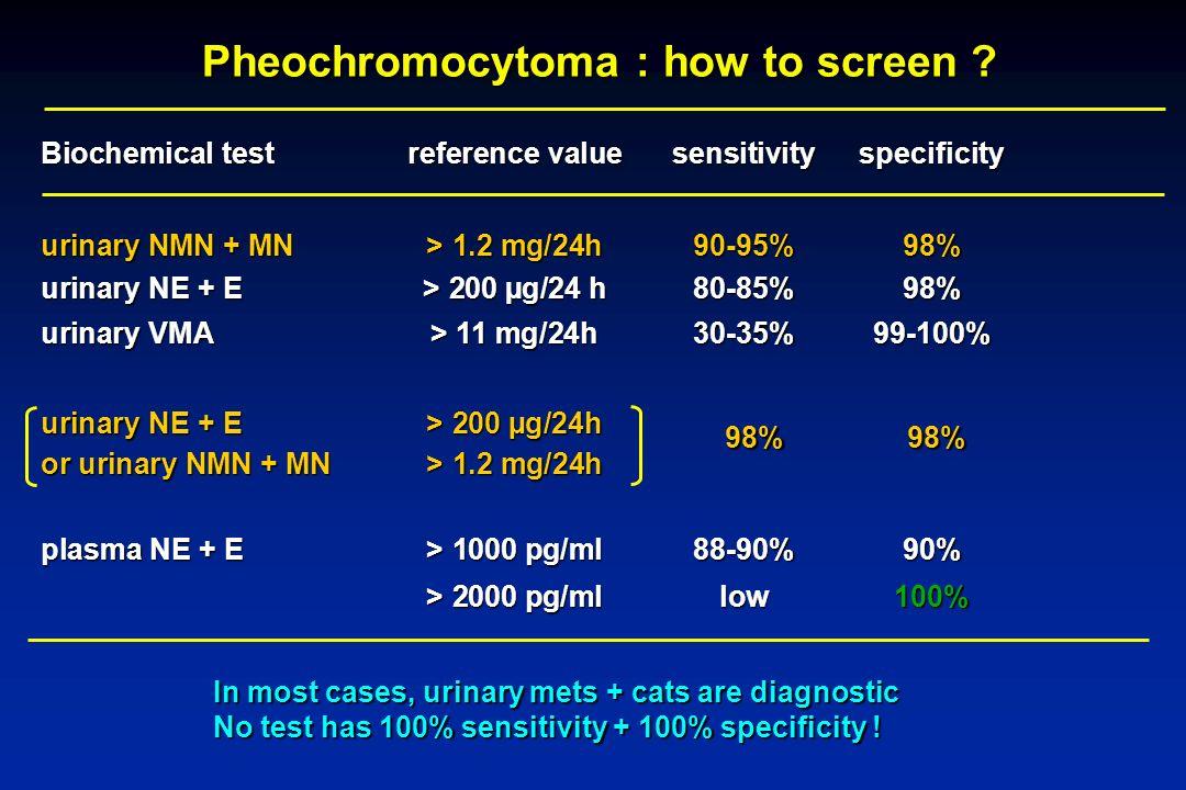Pheochromocytoma : how to screen