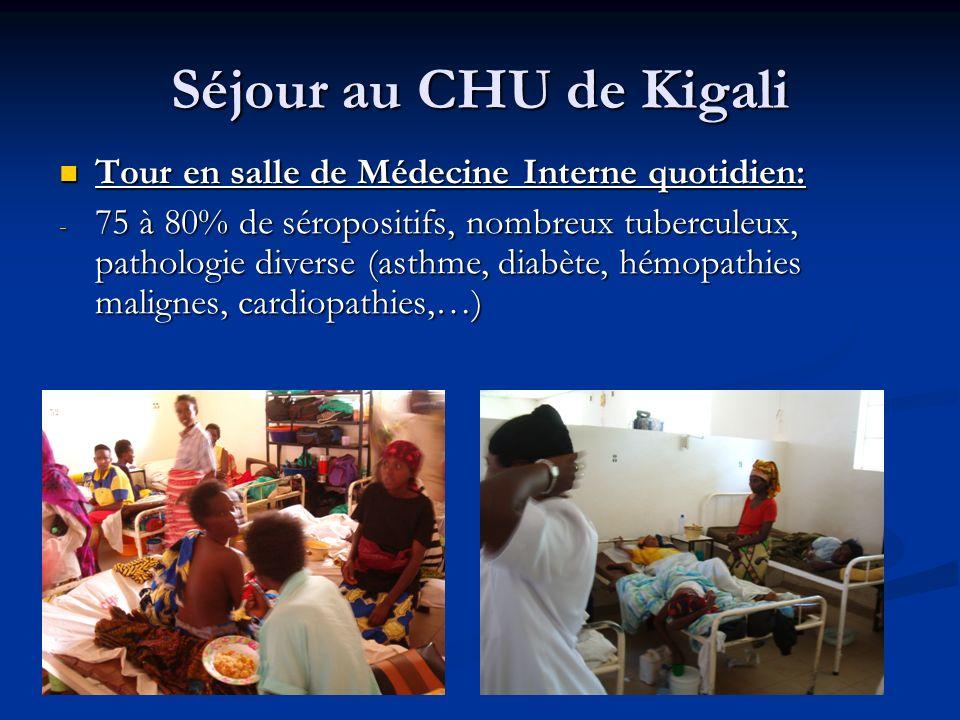 Séjour au CHU de Kigali Tour en salle de Médecine Interne quotidien: