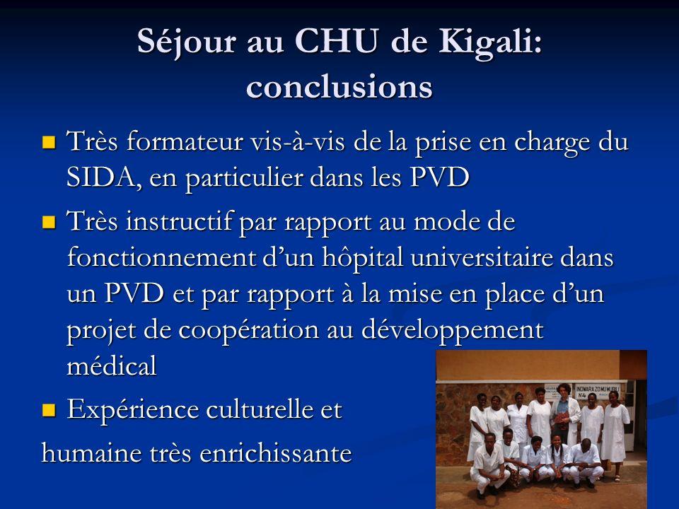 Séjour au CHU de Kigali: conclusions