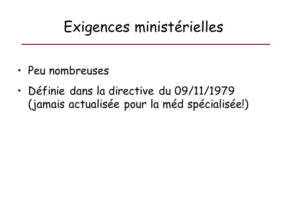 Exigences ministérielles