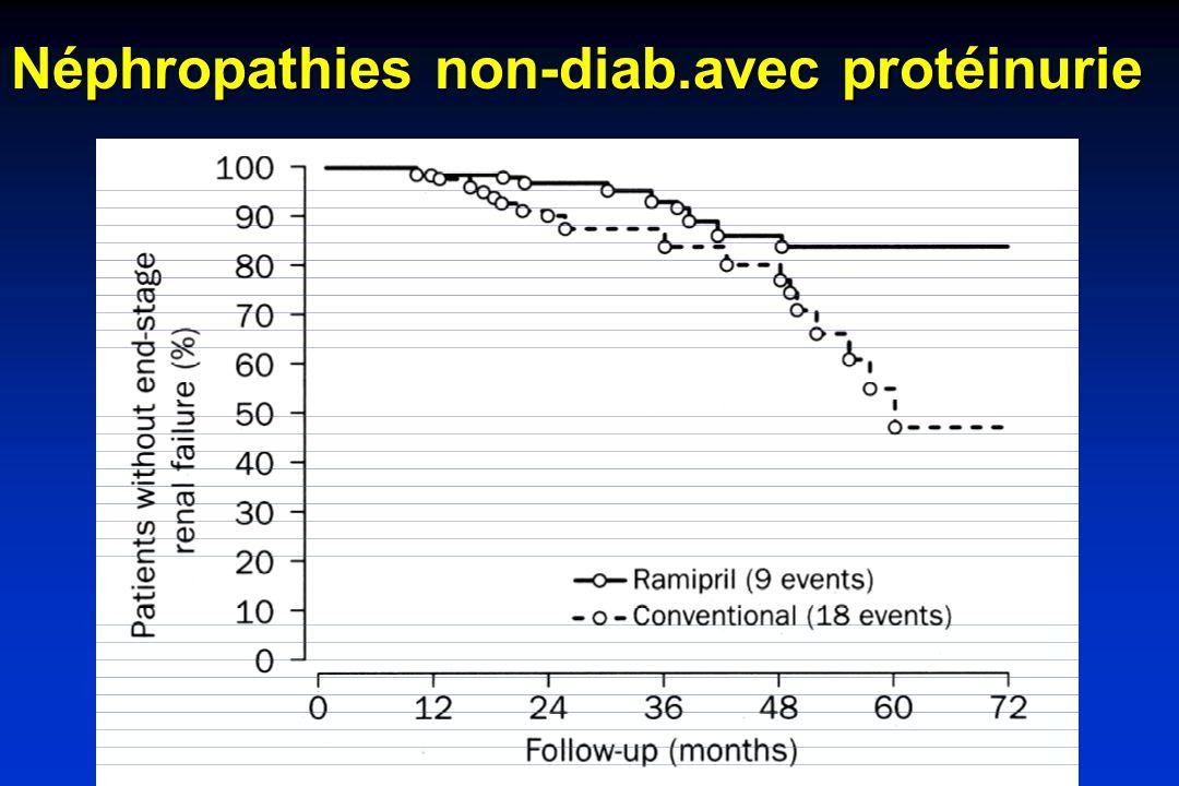 Néphropathies non-diab.avec protéinurie