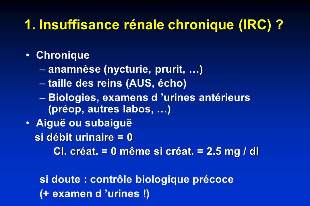 1. Insuffisance rénale chronique (IRC)