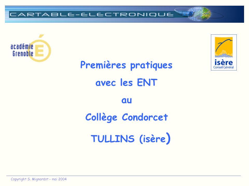 Premières pratiques avec les ENT au Collège Condorcet TULLINS (isère)