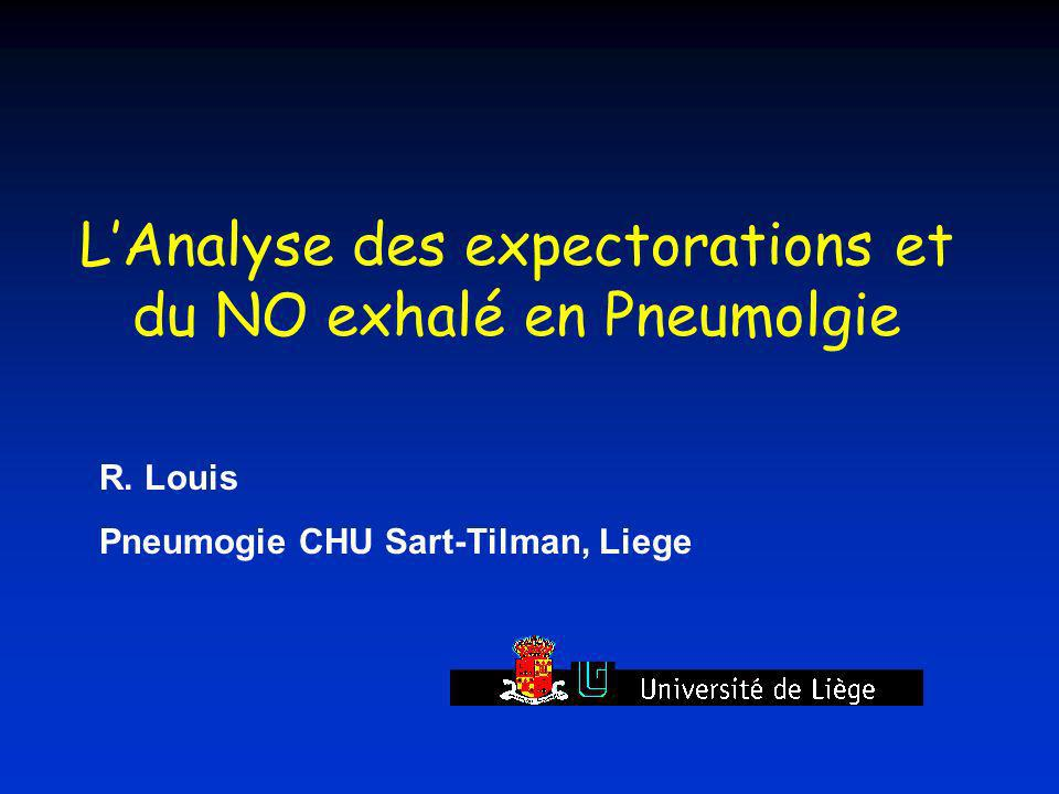 L'Analyse des expectorations et du NO exhalé en Pneumolgie