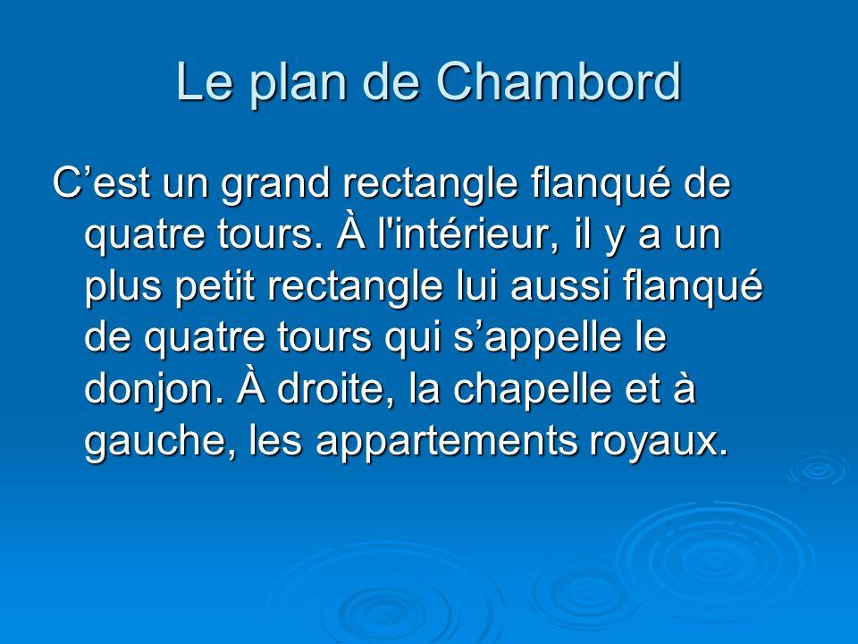 Le plan de Chambord