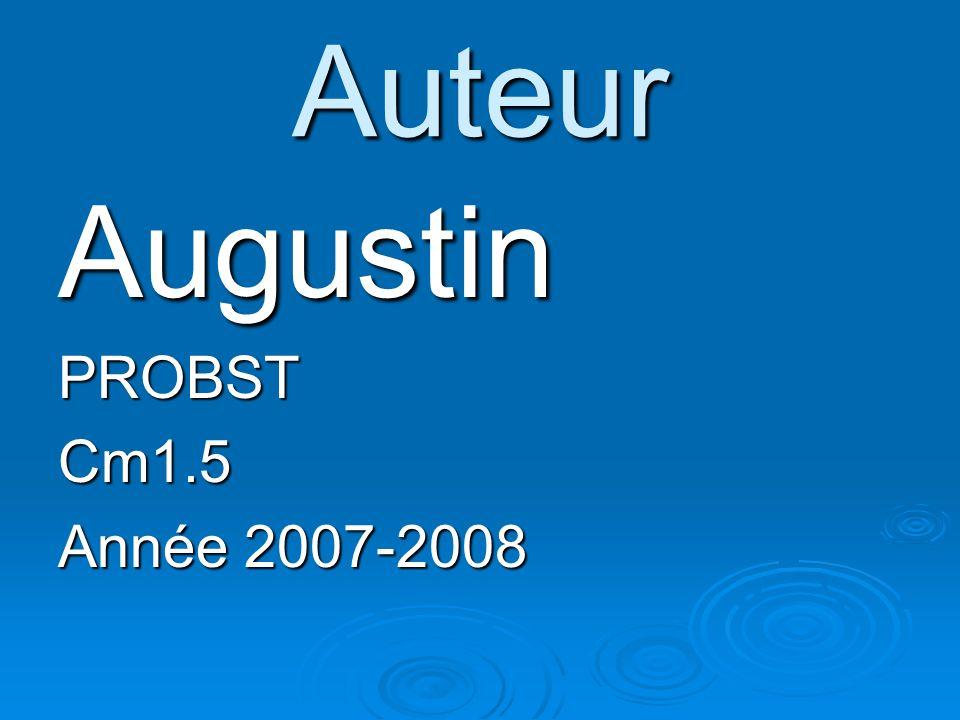 Auteur Augustin PROBST Cm1.5 Année 2007-2008