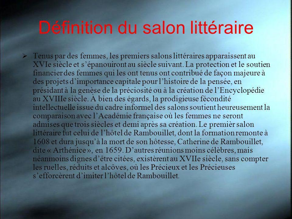 Définition du salon littéraire