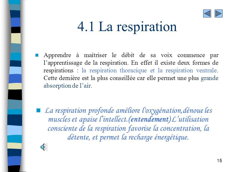4.1 La respiration