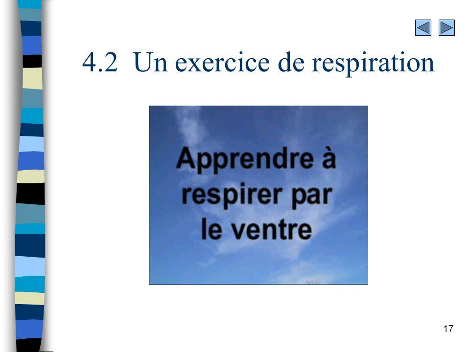 4.2 Un exercice de respiration