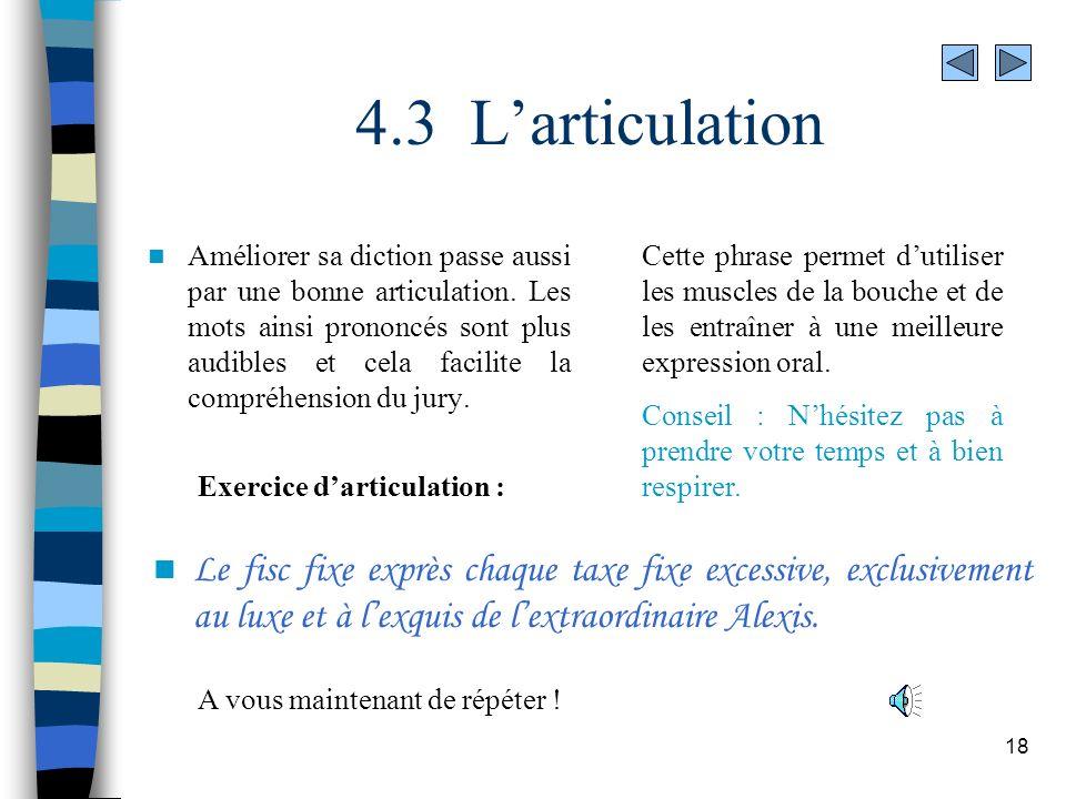 4.3 L'articulation
