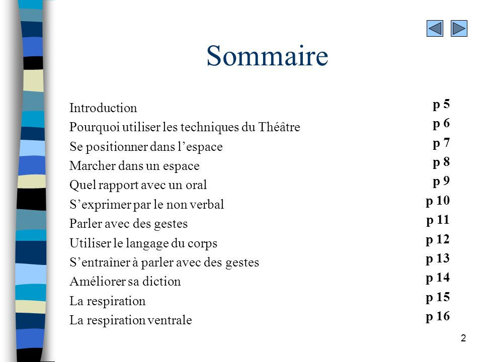 Sommaire p 5 Introduction p 6