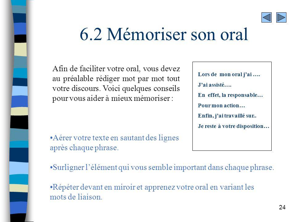 6.2 Mémoriser son oral