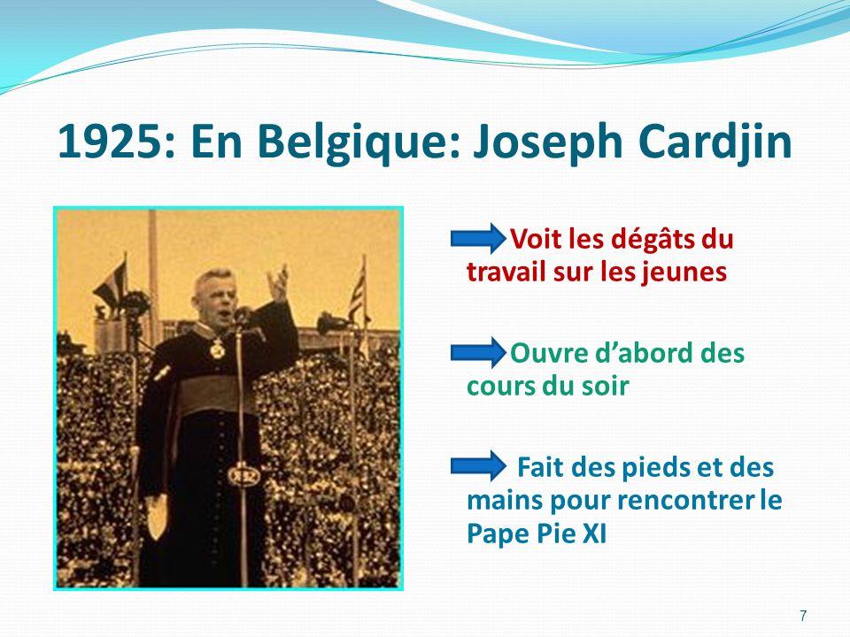 1925: En Belgique: Joseph Cardjin