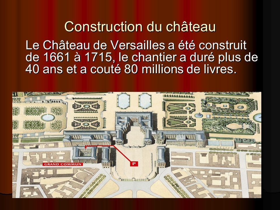 Construction du château