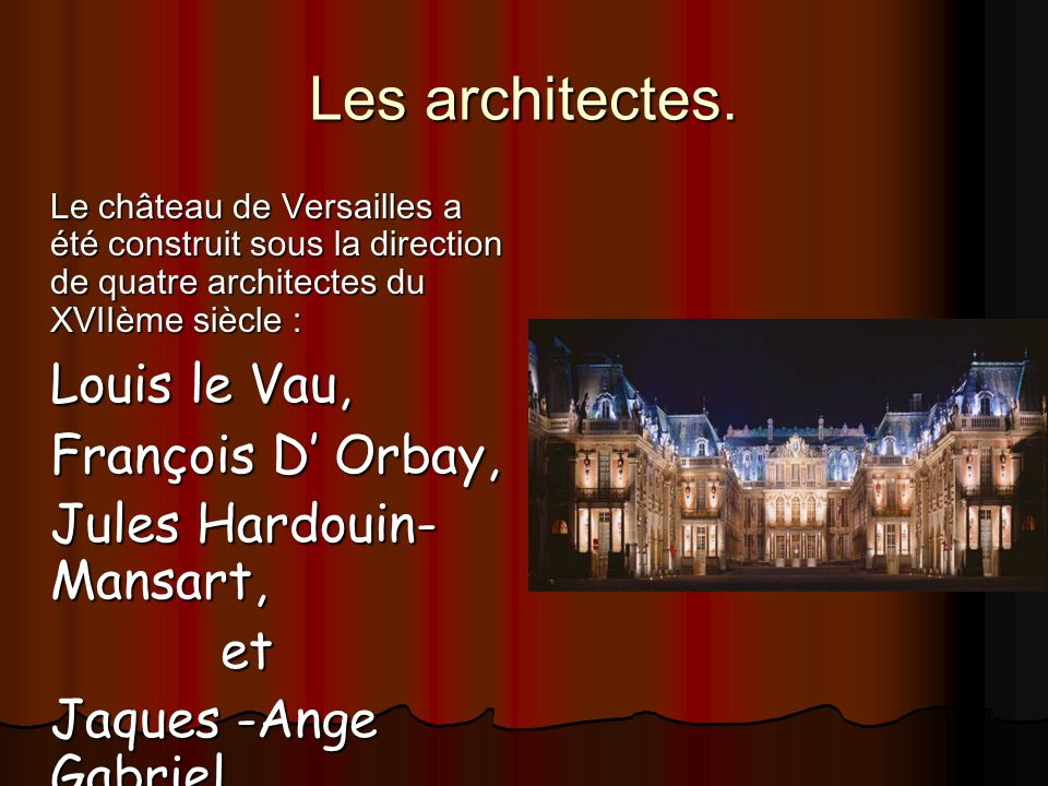 les ch teaux et la vie de versailles ppt video online t l charger. Black Bedroom Furniture Sets. Home Design Ideas