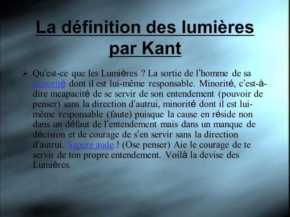 La définition des lumières par Kant