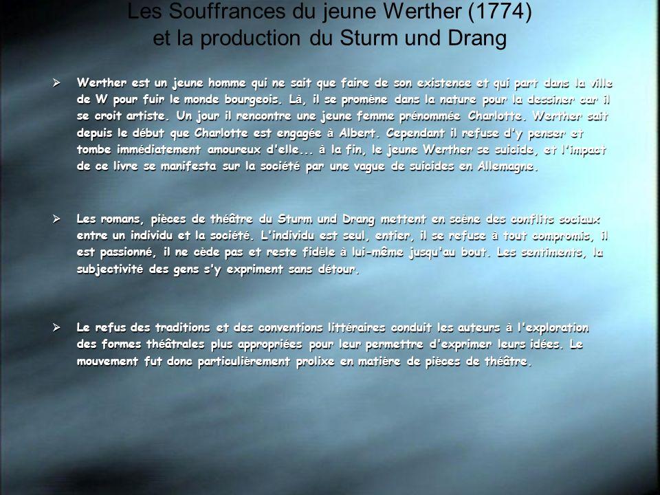 Les Souffrances du jeune Werther (1774) et la production du Sturm und Drang