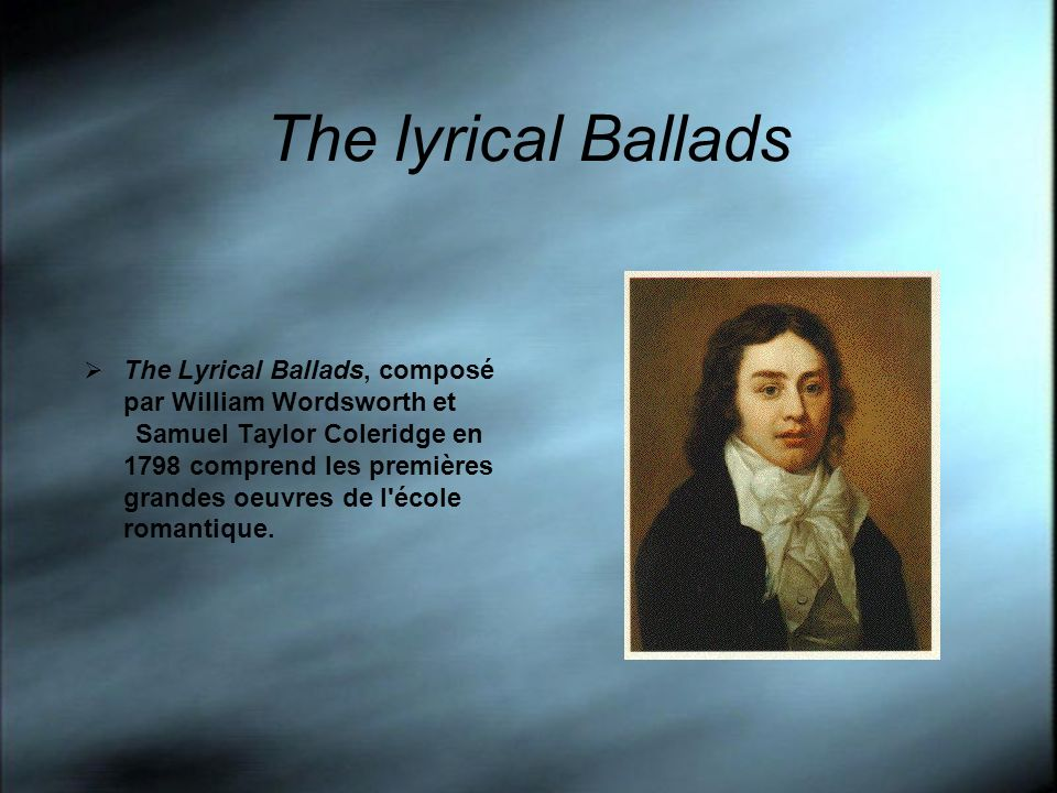 The lyrical Ballads