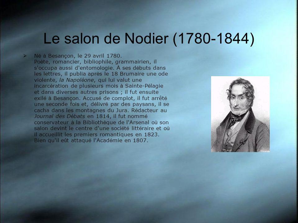 Le salon de Nodier (1780-1844)