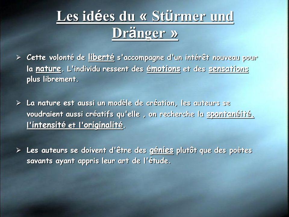 Les idées du « Stürmer und Dränger »