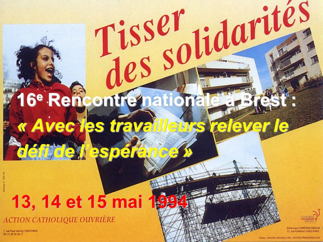 16e Rencontre nationale à Brest :