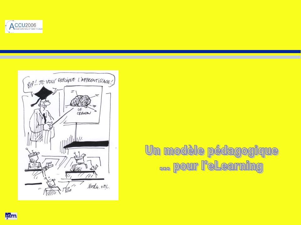Un modèle pédagogique ... pour l eLearning