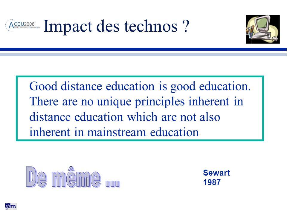 Impact des technos De même …