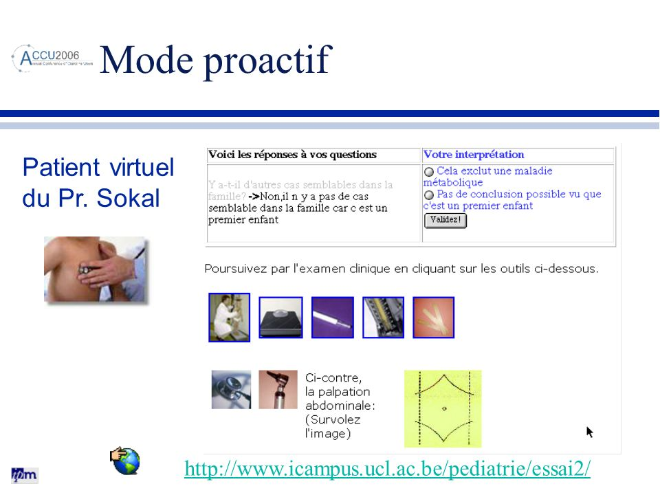 Mode proactif Patient virtuel du Pr. Sokal