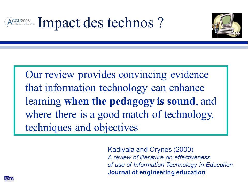 Impact des technos
