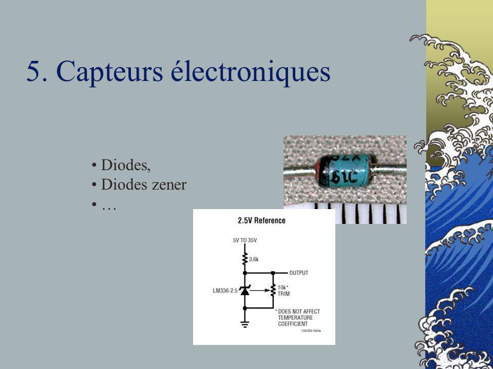 5. Capteurs électroniques