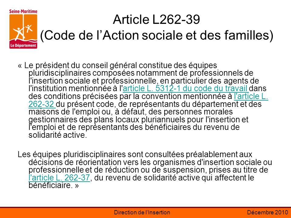 Article L262-39 (Code de l'Action sociale et des familles)