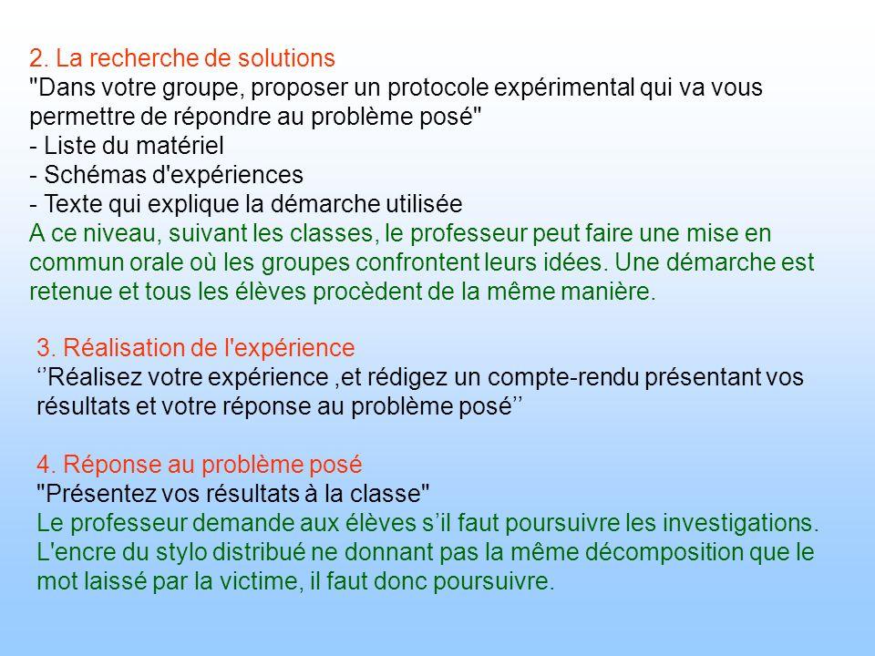 2. La recherche de solutions
