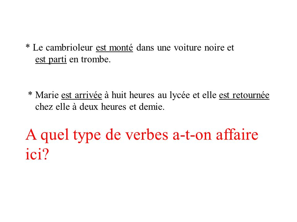 A quel type de verbes a-t-on affaire ici