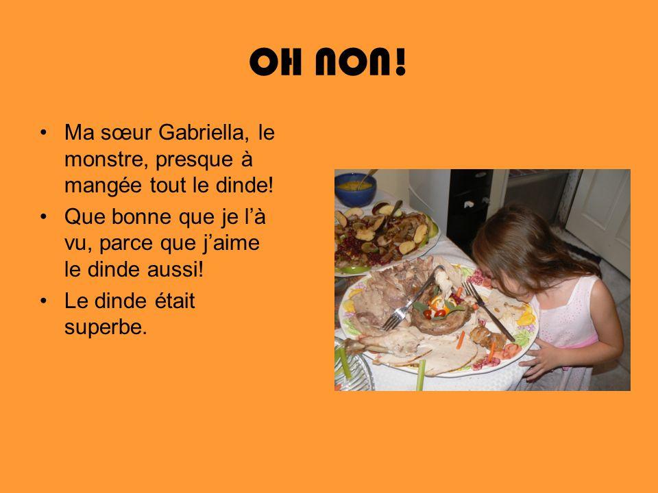 OH NON! Ma sœur Gabriella, le monstre, presque à mangée tout le dinde!