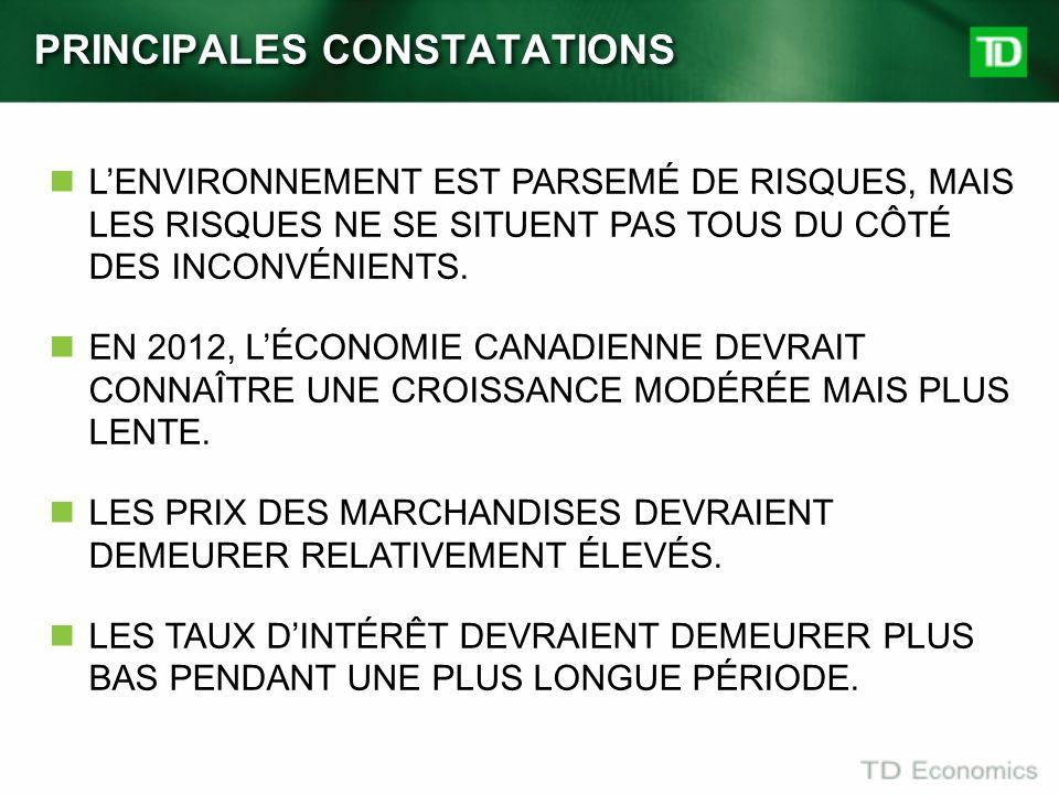 PRINCIPALES CONSTATATIONS