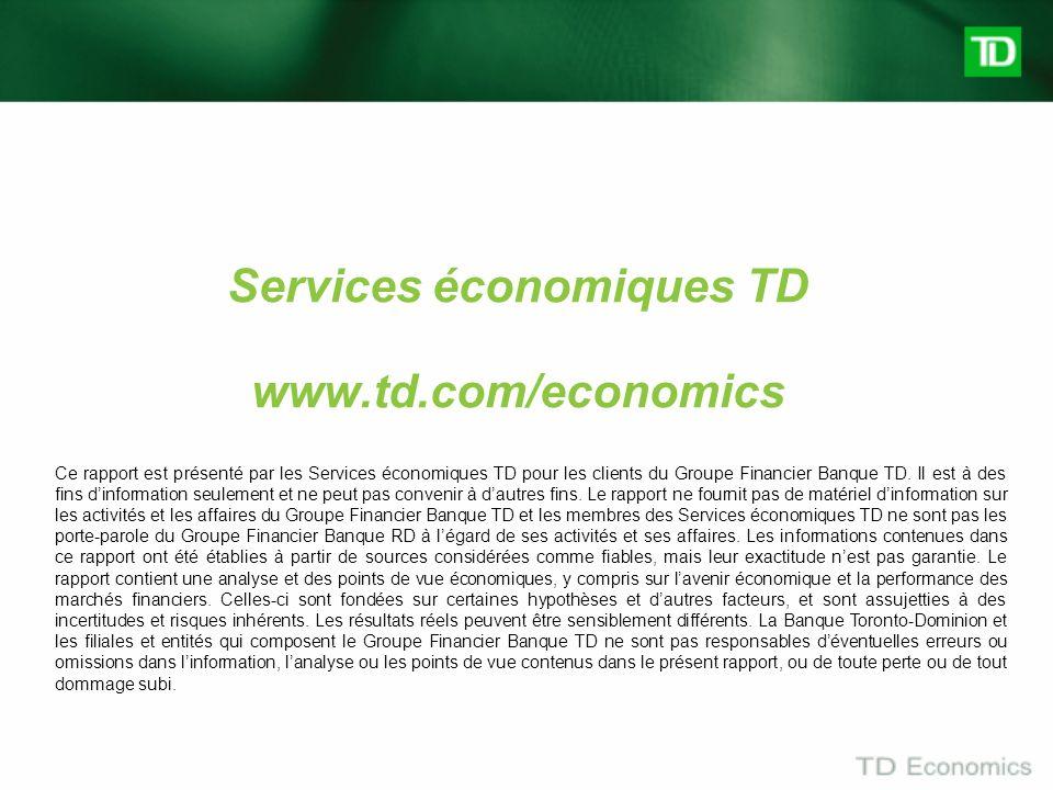 Services économiques TD