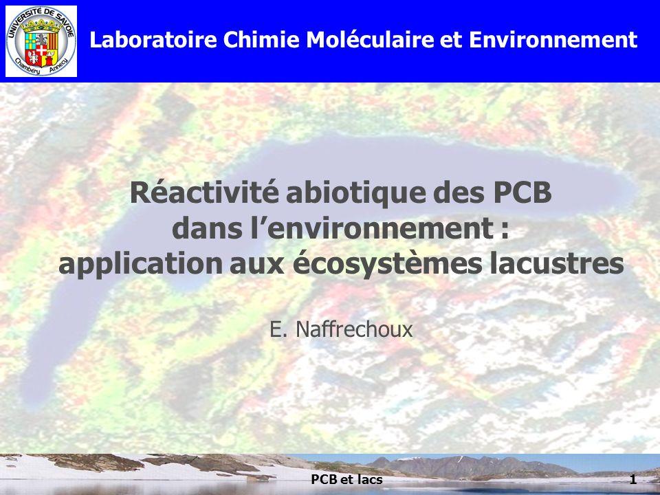 Réactivité abiotique des PCB dans l'environnement :